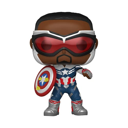 Funko Pop! Marvel: Falcon and The Winter Soldier - Capatain America (Sam Wilson) with Shield, Year of The Shield Amazon Exclusive