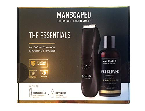 Manscaped Lawn Mower 2.0 + Crop Preserver Essentials kit - SkinSafe Electric Groin and Body Trimmer