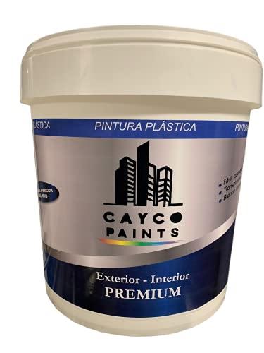 Cayco Paints| Pintura Blanca Interior Exterior | F300 Blanco Mate 4L (5KG) |Cubriente liso