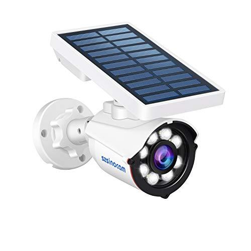 SZSINOCAM Luce Solare Esterno LED con Sensore di Movimento, Wireless 8 LED Luce Esterno Solare Sensore Movimento,800 Lume Luci Solari da Parete Impermeabile,Luce Solare Esterno Giardino,Patio,Portico