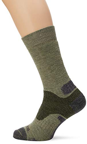 Bridgedale Herren B Explorer Heavyweight Merino Comfort Socken, grün, X-Large