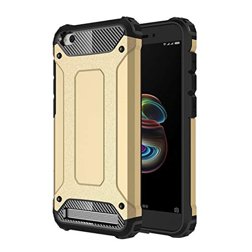 H-HX Carcasas y Fundas For el Caso de combinación de Xiaomi redmi 5A Armadura mágica de TPU + PC (Negro) (Color : Gold)