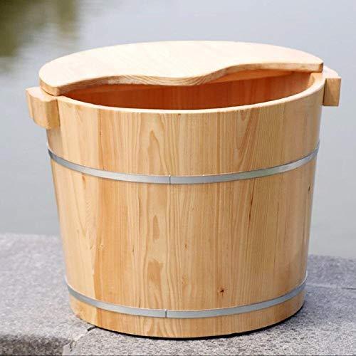 KHFFH Staande badkuip - sparren voetbad SPA beginsholz schaal houten vat (platte bodem, hoogte 0,3 m)