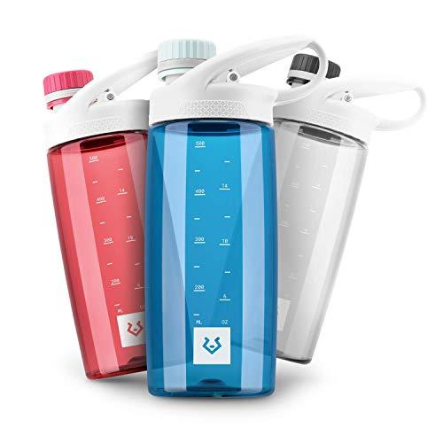 Alphatrail Botella Agua Tritan Luke 550ml Azul I 100% Prueba de Fugas I sin BPA & Ecológicamente I Seguro Lavavajillas I para el ácido de Carbono I para una óptima hidratación en la Naturaleza