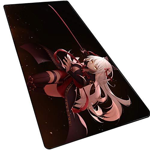 1STSPT Anime/Gaming Muismat voor gamer, computer, muismat, grote muismat, XXL, grote muismat, geschikt voor op het bureau, mat, toetsenbord en muismat 900X400X3MM fate-3