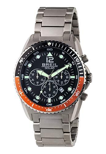 Armbanduhr BREIL Mann SUBACQUEO SOLARE quadrante schwarz e uhrarmband in Titanium, Werk Chrono SOLAR-Uhr