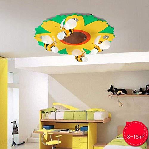 Het creatieve beddengoed Comic Art kamer kinderkamer verlichting, kleine bijenbloem één mannen plafondlamp