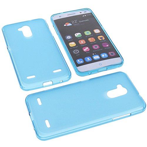 foto-kontor Tasche für ZTE Blade V7 Lite Gummi TPU Schutz Handytasche blau