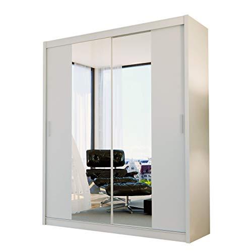 Mirjan24  Kleiderschrank Atma, Schwebetürenschrank mit Spiegel, Elegante Schlafzimmerschrank, Schlafzimmer, Jugendzimmer, Diele und Flur, Schiebetür...