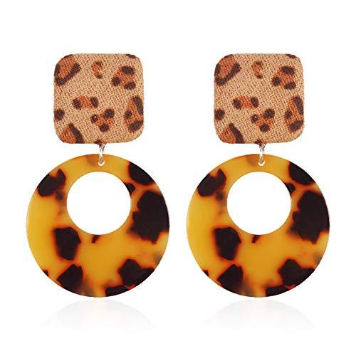 GLJIJID Einfache Und Sexy Leopardenmuster Wilde Mode Geometrische Plüsch Ohrringe, Machen Sie Mehr Sexy Tiefen Leoparden