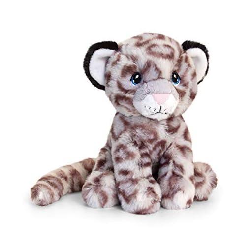 Keel-Toys-SE6233-18cm-Keeleco-Snow-Leopard-100-Recycled-100-Huggable
