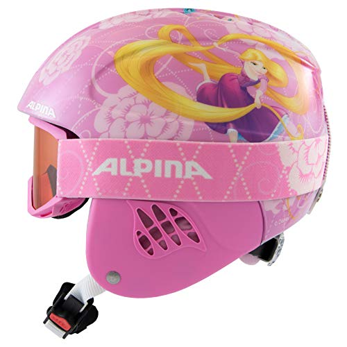 ALPINA CARAT SET DISNEY Skihelm, Kinder, Disney Rapunzel, 51-55
