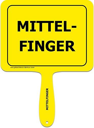 ARTICOO Mittelfinger Spruch Schild für's Auto | Lustiges Provokantes Funschild als Ergänzung für Autoaufkleber | Autobahn Autoscheibe Scherzartikel