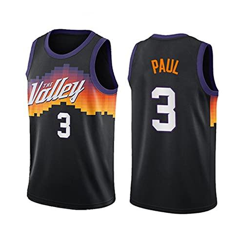 WCLOC Camiseta De Baloncesto para Hombre Y Mujer, Suns #3 Paul Camisetas De Verano Camiseta De Ventilador Chaleco Sin Mangas Ropa Deportiva Uniformes Deportivos Transpirables
