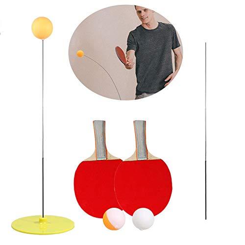 hook.s Entrenador de Tenis de Mesa de Eje Suave elástico, Varilla elástica 90 cm, Bola de Entrenamiento Ocular de descompresión con 2 Palas de Tenis de Mesa y 3 Juegos de Bolas de Ping Pong