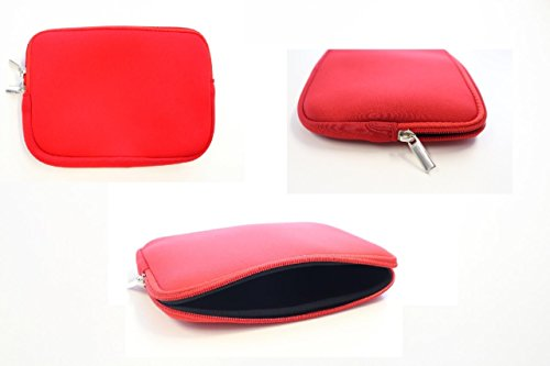 Manna24 Tablet Tasche Neopren Schutzhülle bis 7,5 Zoll Archos 70 Xenon Color Rot
