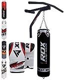 RDX Sac de Frappe Barre Traction Rempli Support Mural Lourd MMA Punching Ball Muay Thai Arts Martiaux Kickboxing Boxe Gants Chaine...