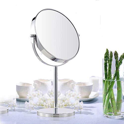 Schminkspiegel Reisespiegel für Make-up 8-Zoll-Kosmetikspiegel mit 10-facher Vergrößerung zweiseitiger Drehspiegel Chrom-Finish stehender Rasierspiegel Schminkspiegel für Badezimmer und