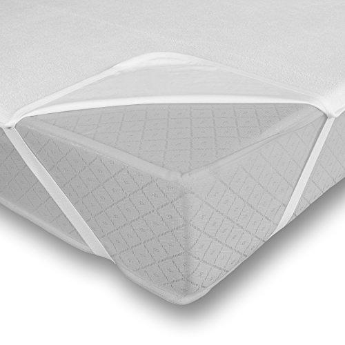 Leonado Vicenti 100% wasserdichte Matratzenauflage Atmungsaktiver Matratzenschoner Anti-Allergie Matratzenschutz, Maße:100 x 200 cm