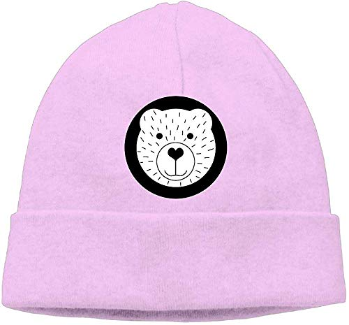 NA Mode Effen Kleur Beer Cartoon Coltrui Cap Voor Unisex Roze