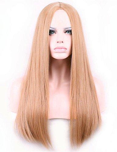 jiayy Europe et les points marrons d'or des États-Unis de vin en 26 pouces pelucas de poil long de nylon cheveux Latium 26\