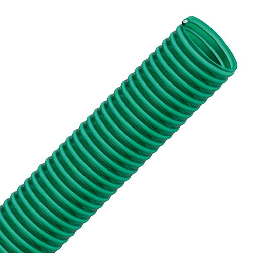 VALEKNA FLEXTUBE GR Ø 25mm (1 Zoll) Länge 5m PVC Schlauch, Spiralschlauch, Saugschlauch mit Hart PVC Spirale, grün transparent