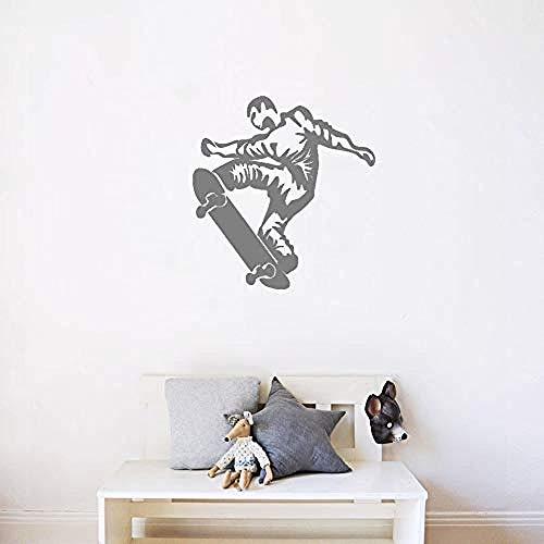 42x45cm skateboard boy sport estremi modello wall art sticker, decorazioni per la casa, decalcomania rimovibile, wallposter impermeabile, carta da parati in materiale pvc