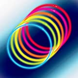 Glow Sticks Bulk 100ct 22'' Glow Necklaces with Connectors, for Party Festivals Raves Birthday Wedding, Multi