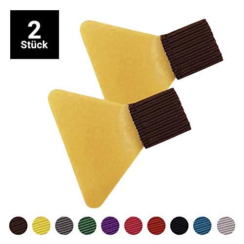 Stifthalter selbstklebend braun (2 Stück) I Stiftschlaufe mit transparentem Klebepad I in 10 Farben verfügbar