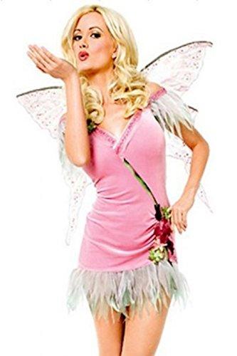 Damen Engel/Blumenfee Wassernymphe Kostüm Kleid Flügel und Tanga Größe 36-38
