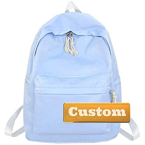 TCross Nome personalizzato Signora Casual Zaino in nylon per le donne leggero per il bambino Daypack Escursioni 10L (Color : Blue, Size : One size)