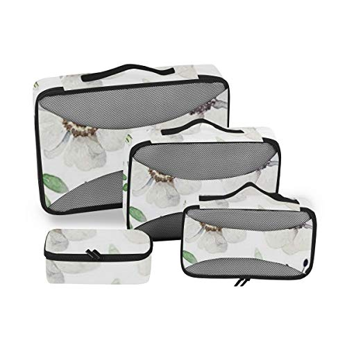 Anemone Flower 4pcs Toiletry Bag for Men and Women Travel Organizer for Makeup and Toiletries Case for Cosmetics and Toilet Accessories