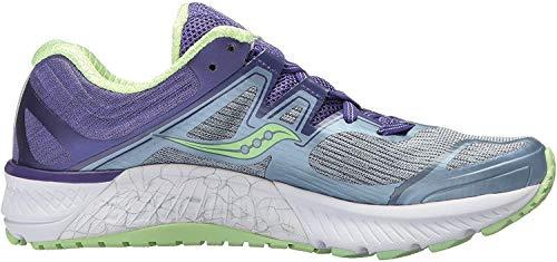 Saucony Women's Guide ISO Running Shoe, Fog/Purple, 7.5 Medium US
