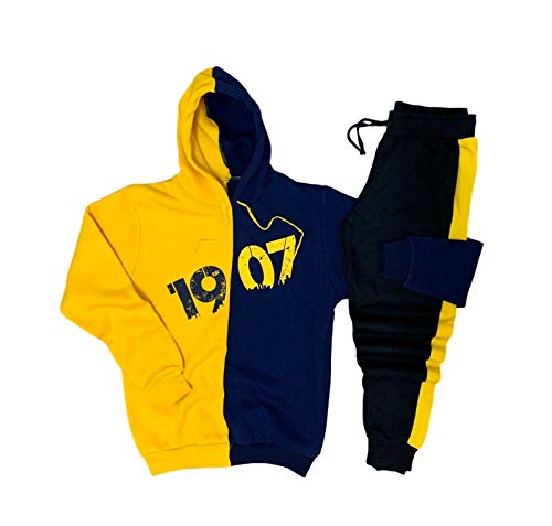 YSN Home Collection Kapuzenpullover + Jogginghose Fenerbahce Pullover Hoodie Trainingsanzug Jogginganzug - 100% Baumwolle
