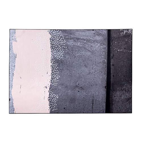 Alfombra de salón para puerta, alfombra de baño, moca amor, costura de color moca, color moca, dormitorio, café, mesa de estudio, alfombra de pelo corto, antideslizante, duradera, gris, 140×200cm