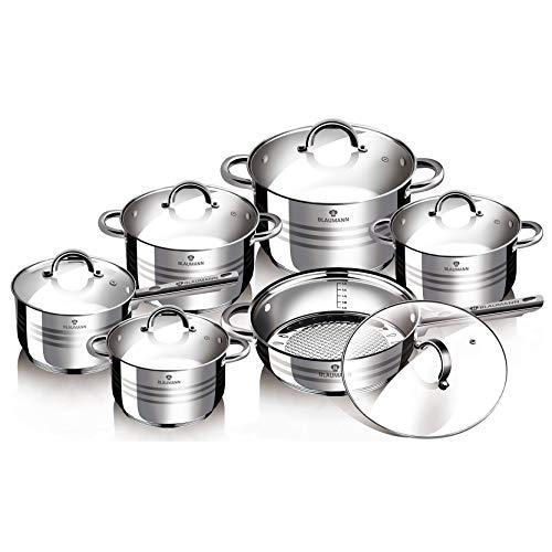 Blaumann Batería de cocina 12 Piezas Jumbo