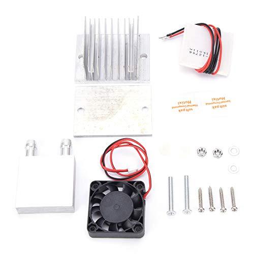 TEC1-12706 Kit de Sistema de enfriamiento de refrigeración, Enfriador termoeléctrico de 12 V CC Módulo de Enfriador de Bricolaje de Placa fría de Sellado Completo con Ventilador
