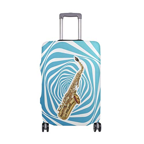 Alto Saxophone Travel Lage Cover - Suitcase Protector Spandex Dust Proof Covers with Zipper,Fits M22-24in-