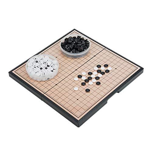 Go Brettspielset Faltbares 12,95 x 12,95 Zoll Brettspielset mit magnetischen Plastiksteinen Klassisches chinesisches Strategie-Brettspiel für Anfänger, Kinder, Erwachsene
