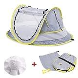 BuBu-Fu Tragbares Baby-Strandzelt, Großer Leichter Sicherheitsschutz Automatisches Popup-Babyreisebett UPF 50+ UV-Schutz Krippenzelt Reisebett Sonnenschutz Für Mädchen Jungen