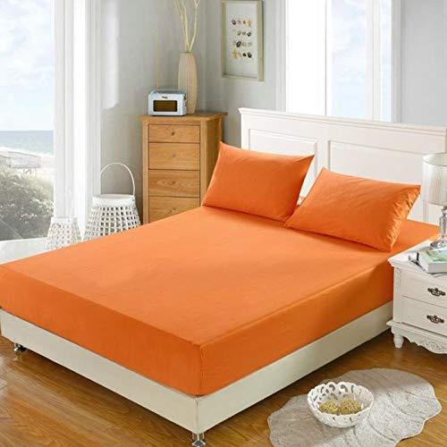 xuzheng Hoja Ajustada Cubierta de colchón Sólido Color Lijado Ropa de Cama Sábanas con Hoja de Cama de Banda elástica