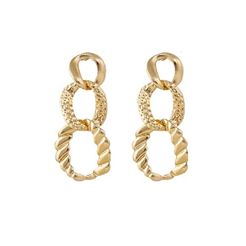 Design Vintage Gold Color Hollow Long Earrings For Women Female Geometric Pendant Earing Party Jewelry