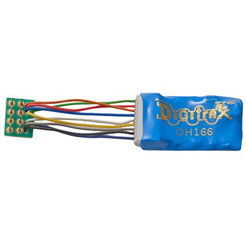 """Digitrax DGTDH166PS HO DCC Decoder Prem S6, 1.2""""Wires 6FN 8-Pin 1.5A"""