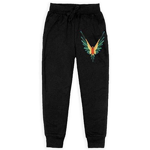 Girls Logan Paul Maverick Sun Conure Logo Jogger Sweatpants Youth Joggers Sport Training Sweatpants Black