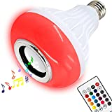 AmeriLuck Party Music LED Light Bulb with Built-in Bluetooth Speaker, E26 Screw Base, Remote Control RGB Color Changing for iOS & Android Phones, No WiFi Needed