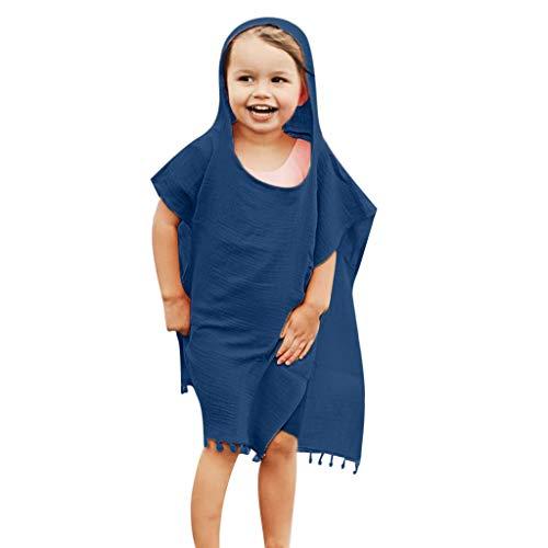 Amphia - Kinder Umhang,Kleinkind-Baby-Kurzschluss-Hülsen-Feste Quasten-mit Kapuze Oberseiten-Mantel-Kleidung