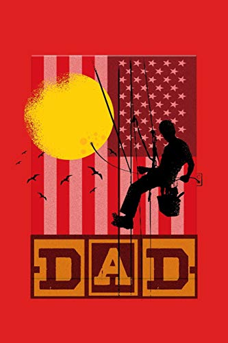 American Flag Dad Lineman Electric Cable: Vintage American Flag Dad Lineman Electric Cable Fathers Day Journal 6