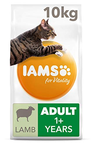IAMS for Vitality Adult Dry Cat Food with Lamb, 10 kg