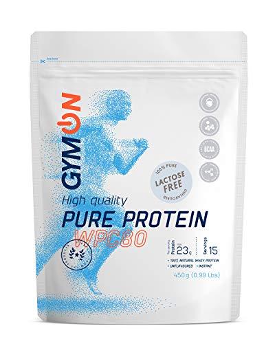 GYMON Whey Protein. Molkenproteinpulver Laktosefrei. Hoher Proteingehalt - 450g (Natural)