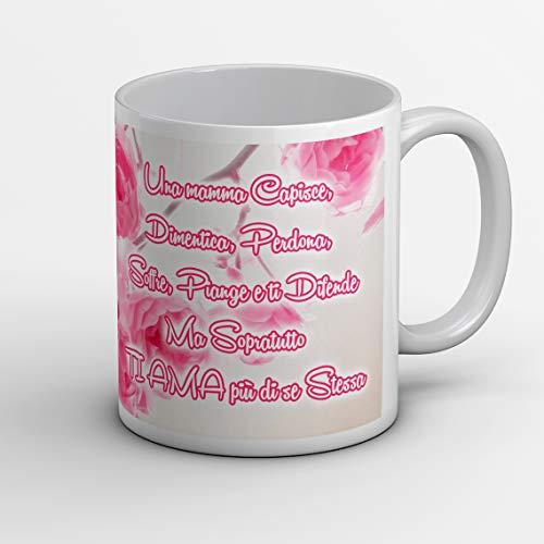 Idea de regalo taza para el día de la madre, cumpleaños o para cualquier otra ocasión con frases didácticas y diseño